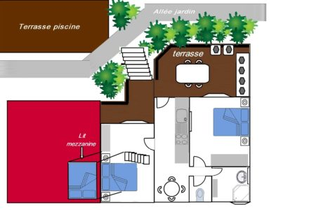 Plan de l'appartement Bougainvillier