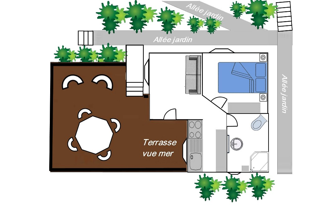 Plan du bungalow Ti-Punch